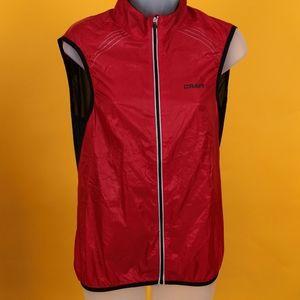 Craft Women Vest lightweight bike cycling red sz S